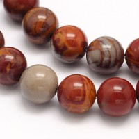 Red Picture Jasper Beads, 8mm Round