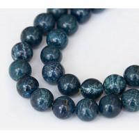 Scenery Jasper Beads, Blue, 10mm Round