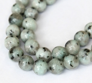 Sesame Jasper Beads, Light Teal, 10mm Round