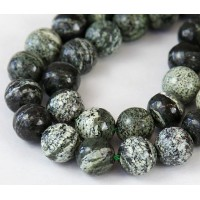 Green Zebra Jasper Beads, 10mm Round