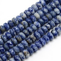 Sodalite Beads, 5x8mm Faceted Rondelle