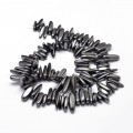 Hematite Stick Beads, Non-Magnetic, 8-30mm