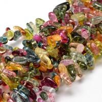 Multicolor Crackle Crystal Quartz Stick Beads, 8-30mm