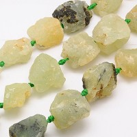Prehnite Beads, Large Rough Nugget