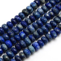 Lapis Lazuli Beads, 5x8mm Faceted Rondelle