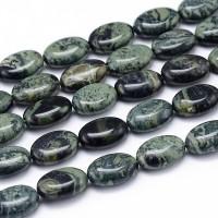 Ocean Jasper Beads, 14x10mm Flat Oval