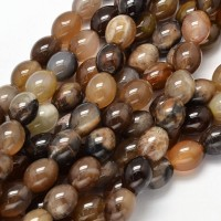 Petrified Wood Beads, 10x8mm Barrel