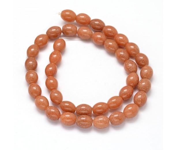 Red Aventurine Beads, 10x8mm Barrel