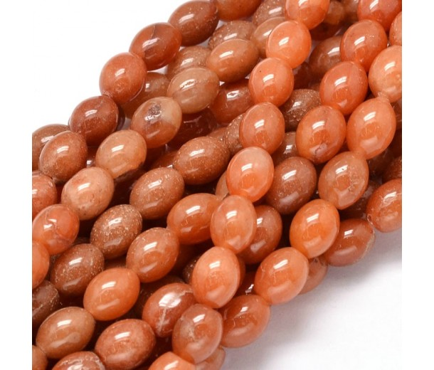Red Aventurine Beads, 10x8mm Barrel