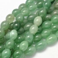 Green Aventurine Beads, 10x8mm Barrel