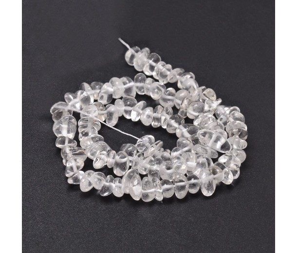 Quartz Crystal Beads, Small Chip