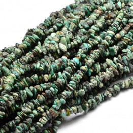 African Turquoise Beads, Teal, Small Chip