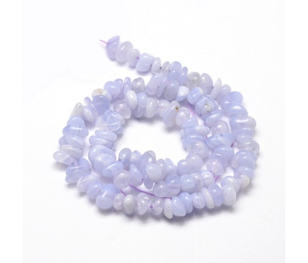 Blue Lace Agate Beads, Small Chip