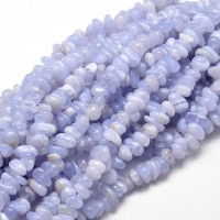 Blue Lace Agate Beads, Natural, Small Chip