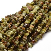 Green Garnet Beads, Small Chip