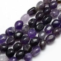 Amethyst Beads, Medium Purple, Oval Nugget