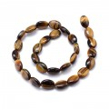 Tiger Eye Beads, 14x10mm Flat Oval