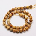 Picture Jasper Beads, Natural, 8mm Faceted Round