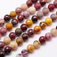Mookaite Beads, Natural, 10mm Faceted Round