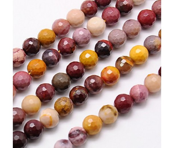 Mookaite Beads, 8mm Faceted Round