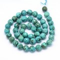 Turquoise Beads, Teal, 8mm Faceted Round