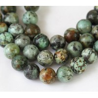 African Turquoise Beads, Natural, 10mm Round