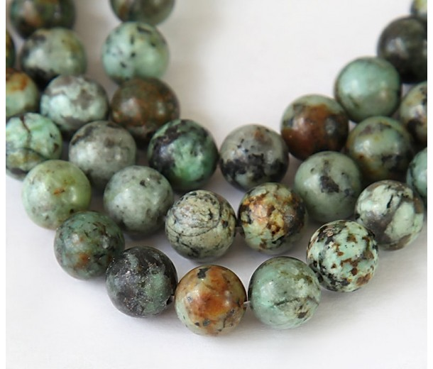 African Turquoise Beads, 10mm Round