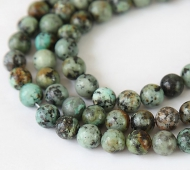 African Turquoise Beads, 6mm Round