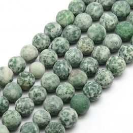 Matte Tree Agate Beads, 10mm Round