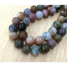 Indian Agate Beads, 10mm Round