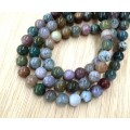 Indian Agate Beads, 8mm Round