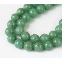 Green Aventurine Beads, 8mm Round