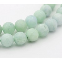 Amazonite Beads, Natural Light Teal Green, 8mm Round