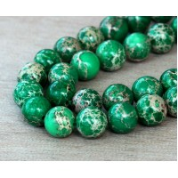Impression Jasper Beads, Green, 8mm Round