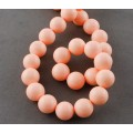 Imitation Turquoise Beads, Light, Coral, 10mm Round