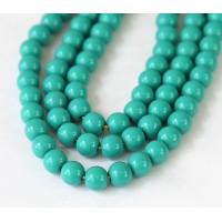 Imitation Turquoise Beads, Dark Teal, 8mm Round