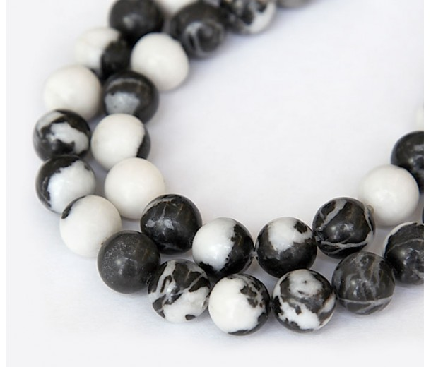 Mexican Zebra Jasper Beads, 8mm Round