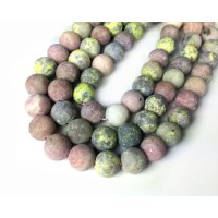 Matte Pink Lepidolite Beads, Natural, 8mm Round