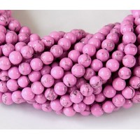 Magnesite Beads, Orchid, 4mm Round