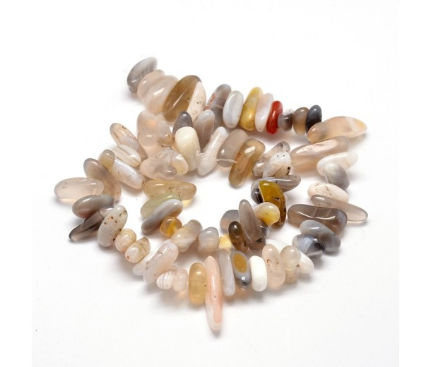 Botswana Agate Stick Beads, Natural, 8-20mm