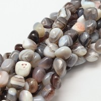 Botswana Agate Beads, Multicolor, Medium Nugget