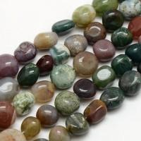 -Indian Agate Beads, Medium Nugget