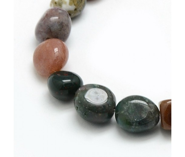 Indian Agate Beads, Medium Nugget