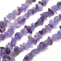 -Amethyst Beads, Medium Chip