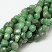 Aventurine Beads, Green, Medium Pebble