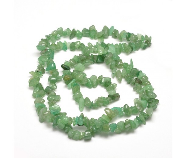 Green Aventurine Beads, Medium Chip