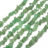 Green Aventurine Beads, Medium Chip