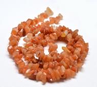 Red Aventurine Beads, Medium Chip