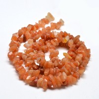 Red Aventurine Beads, Medium Chip