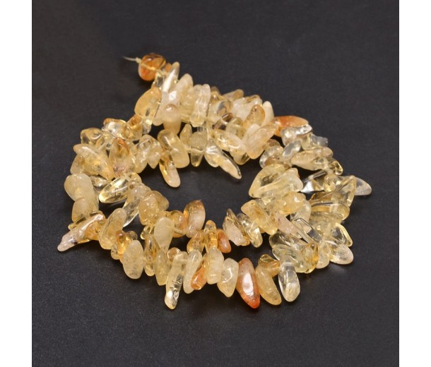 Citrine Stick Beads, Natural, 6-20mm